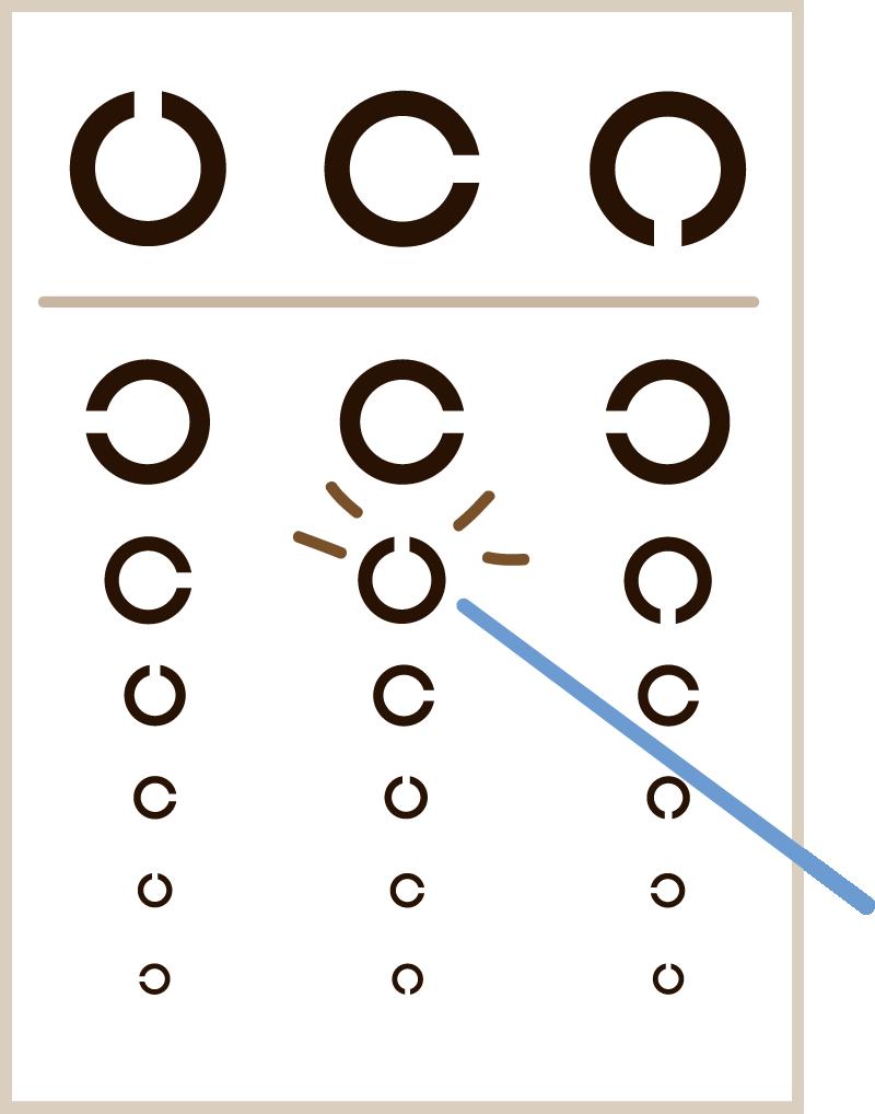 視力検査表のイラスト