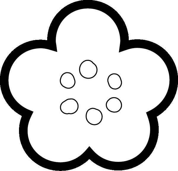 梅の花イラスト 白黒