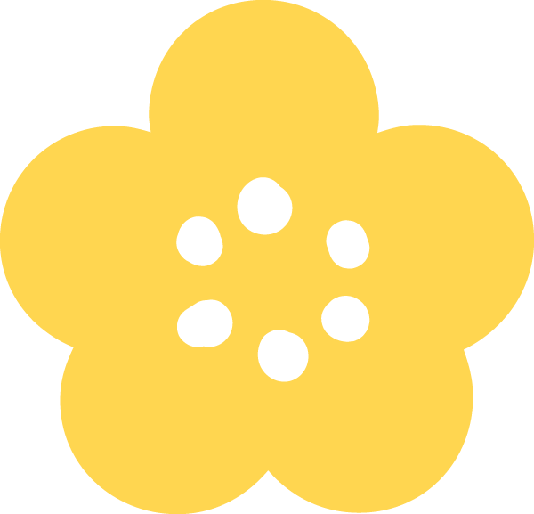 梅の花イラスト 黄色