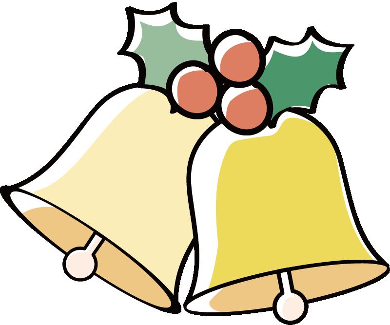 クリスマスのベルのイラスト