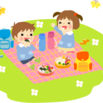 園児の遠足イラスト(ピクニック)