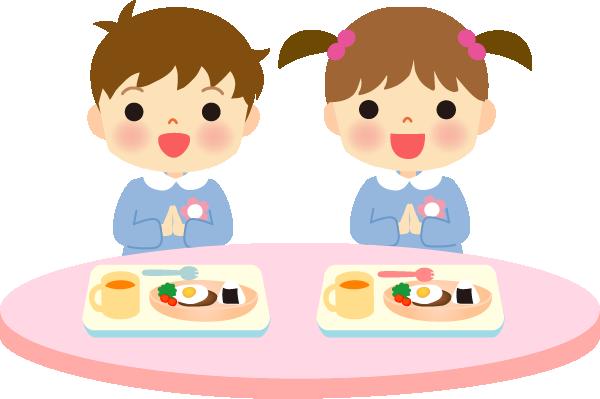 給食のイラスト(子供)