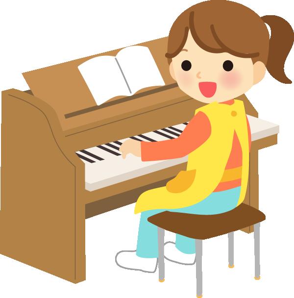 ピアノを弾く先生イラスト