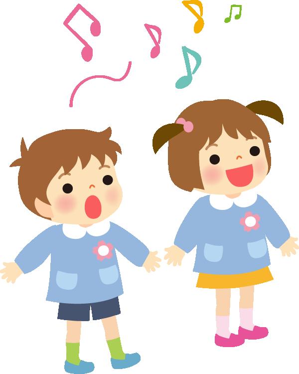 歌う園児のイラスト