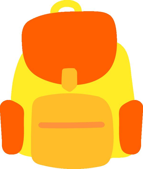 黄色のリュックのイラスト