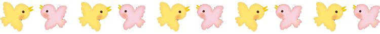 かわいい鳥(バード)の罫線・ラインイラスト