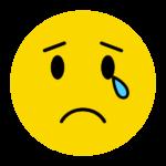 泣いているニコちゃんマーク