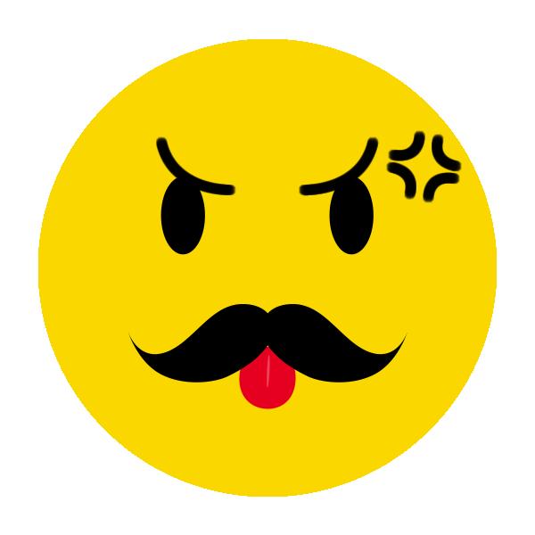 怒るひげのニコちゃんマーク