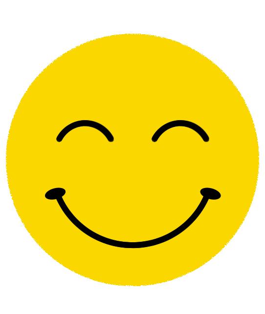 ニコニコ表情のニコちゃんマーク
