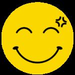 笑顔で怒っているニコちゃんマーク