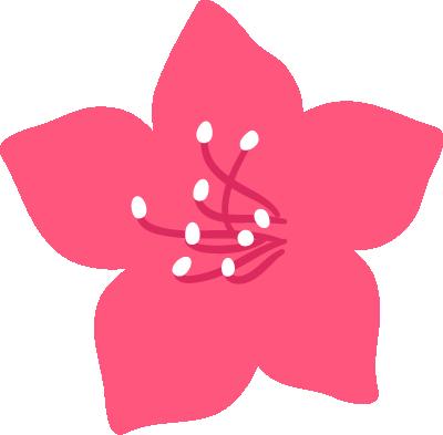 ツツジのイラスト(ピンク)