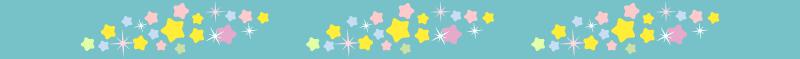 星がいっぱいの短冊の罫線ライン・囲み線のイラスト