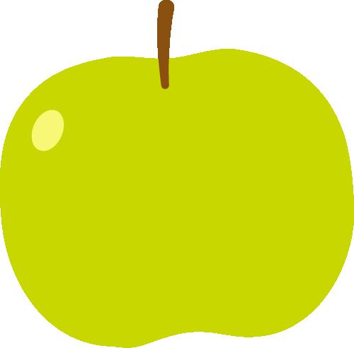 青りんごのかわいいイラスト