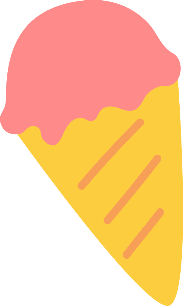 ストロベリーアイスクリームイラスト