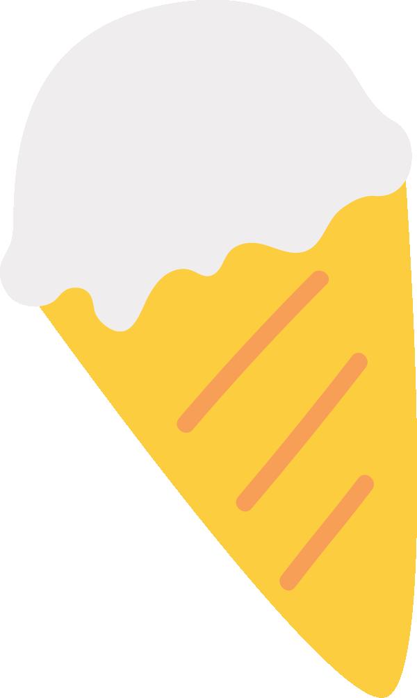バニラアイスクリームのイラスト