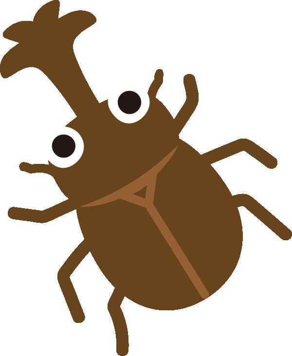 かわいいカブトムシのイラスト