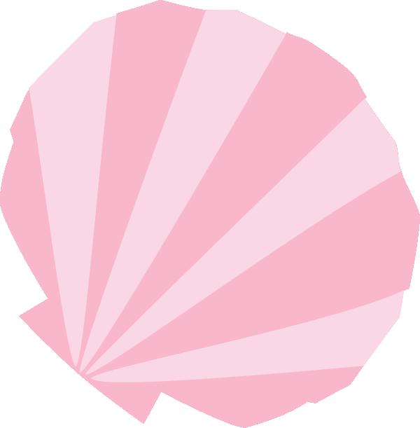 ピンクの貝殻イラスト