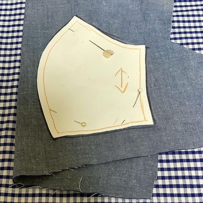子ども用立体マスクの作り方(1)