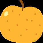 梨(なし)の果物イラスト