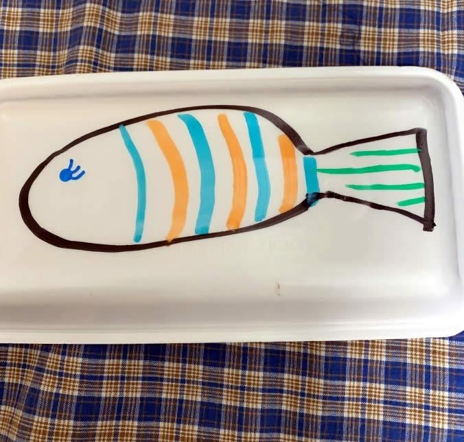 お家で子供と魚釣りの工作(5)
