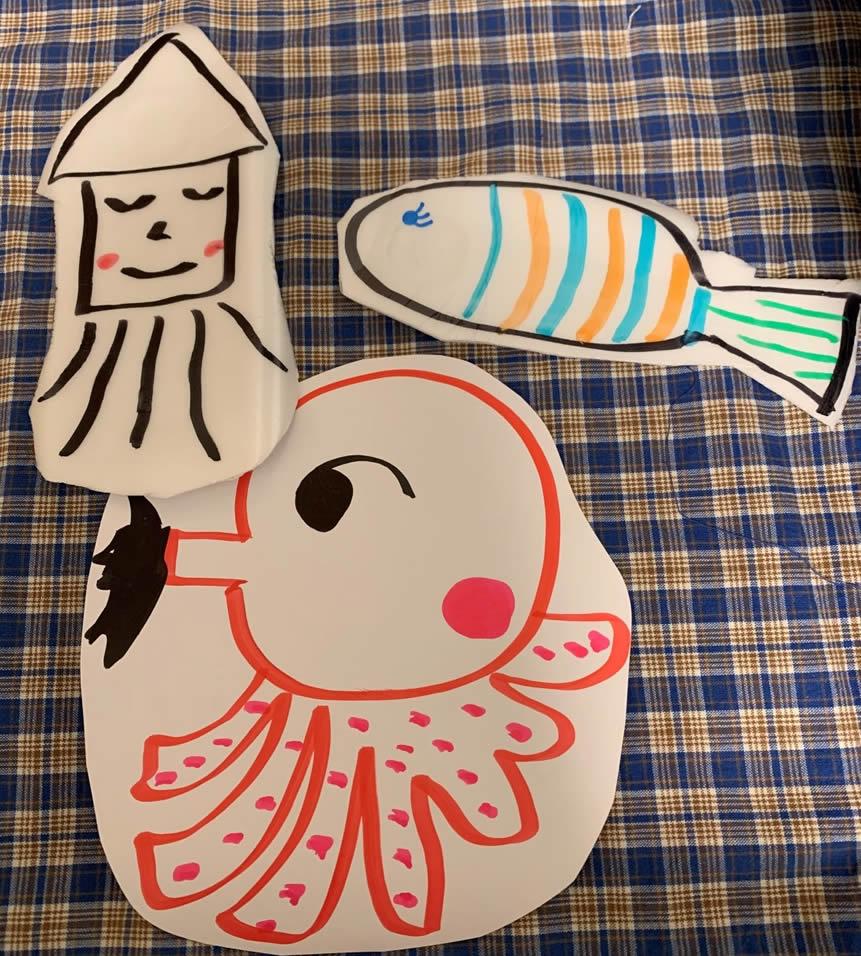 お家で子供と魚釣りの工作(7)