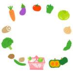 野菜の枠・フレームイラスト