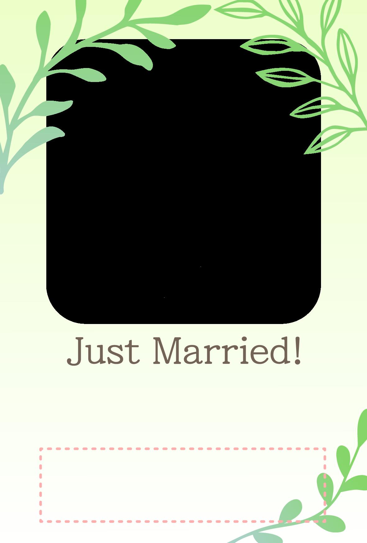 【文字無し】結婚報告はがきの無料デザインテンプレート