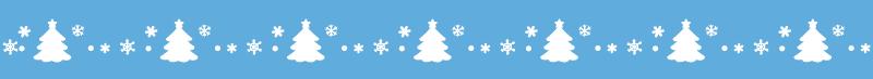 クリスマスの飾り線ライン素材(ツリー)