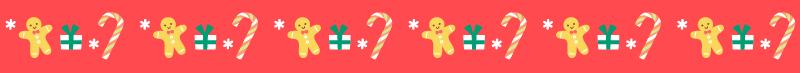 クリスマスの飾り線ライン素材(お菓子)