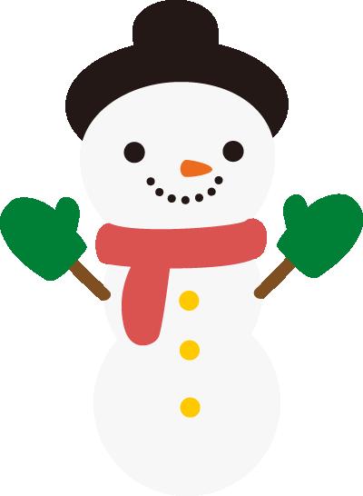 かわいい雪だるまのアイコンイラスト