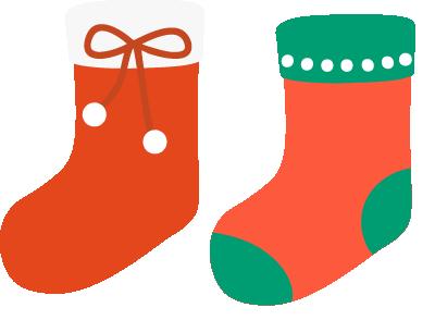 サンタ靴下のイラスト