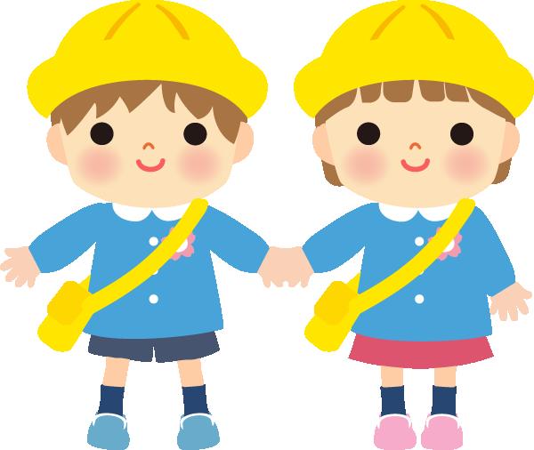 園児のかわいいイラスト(男ノコ、女ノコ)