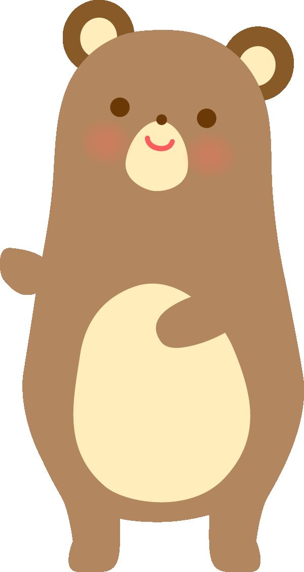 かわいいクマの動物イラスト