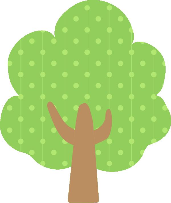 ドット柄の木のイラスト