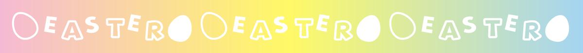 イースターの飾り線・ライン素材(テープ風)