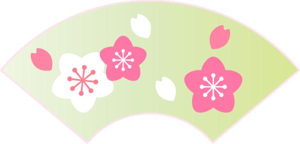 雛飾りのイラスト(扇)
