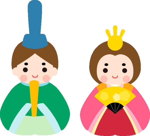 ひな人形のかわいいイラスト(お内裏様・お雛様)