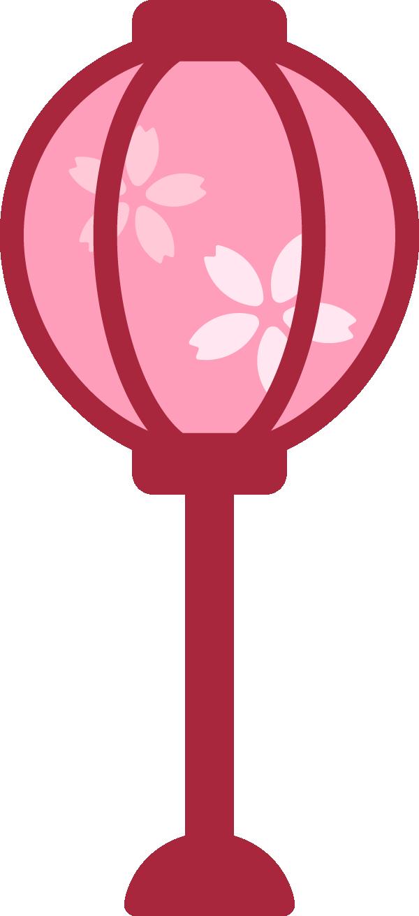 ひな祭りのぼんぼりのイラスト