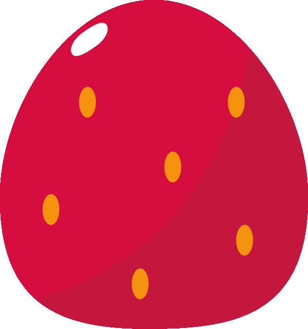 かわいいイチゴのイラスト