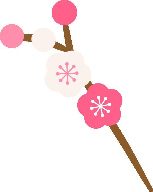 梅の花の枝イラスト