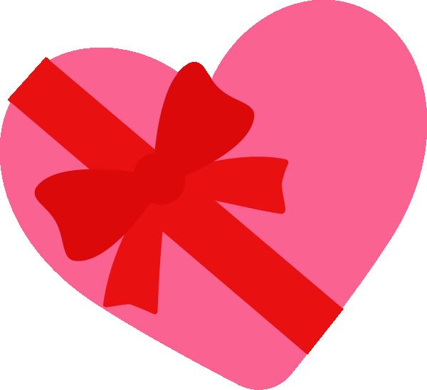バレンタインデーのイラスト(ハートとリボン)