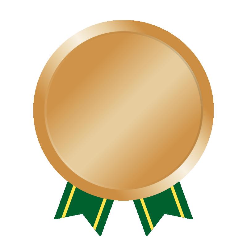 銅メダルの無料イラスト(文字無し)
